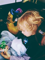 330 of 365 - Let's Roll! ([ the black star ]) Tags: boy playing tree kid toddler yay things christmastree kingston carseat blanket stuff legos messyhair shrug preschooler buckledin onedayleft 330365 theblackstar threehundredthirty thelittlemister uploaded:by=flickrmobile superfadefilter flickriosapp:filter=superfade thenafourdayweekend