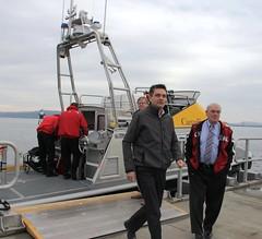 Visiting the Port of Nanaimo (BC Gov Photos) Tags: britishcolumbia transport nanaimo cranes vancouverisland transportation infrastructure shipping trade ports bcgovernment nanaimoportauthority ministertoddstone