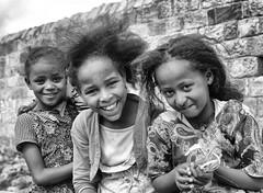 Happy Girls, Adigrat (Rod Waddington) Tags: africa girls blackandwhite happy happiness ethiopia ethnic ethiopian tigray adigrat