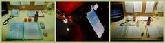 At Work, 25. 12. 2013 Christtag / Christmas Day: Triptychon: Before - Intermission - After (hedbavny) Tags: vienna wien stilllife art rose work painting weihnachten table star austria licht sketch sterreich stillleben wasser theater outsiderart keks drawing kunst pomegranate inge doodle gelb gift harvey present stern arbeit geschenk flasche hase shared stabilo schnupfen profession handwerk feiertag marlenedietrich knstler maux grenadine rosine narrenturm lilimarleen beruf taschentcher meinfreundharvey granatapfel workingtable assoziation weihnachtsbckerei weihnachtsgeschenk gugging souffleuse grntee nascherei aktionismus prompter christtag arbeitstisch weihnachtskeks hasenkeks mitlinks hustenzuckerl hedbavny ingridhedbavny freiesassoziieren liliofthelamplight