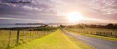 Sunrise (Michael Baynes Photography) Tags: road travel newzealand vacation sky holiday water field grass sunrise nz bayofislands paihia blinkagain flickrbronzetrophygroup