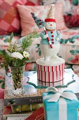Christmas 2013 (Plays With Needles) Tags: christmas decorations interiors needlework tea decoration stitching teacups stitchery curio shabbychic curiositycabinet