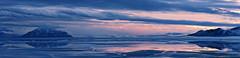 Utah Lake Sunset February 9 2014 2 (houstonryan) Tags: county light sunset lake art ice water colors last walking print landscape photography evening harbor boat utah photo big melting pretty day ryan houston 9 fork hike photograph american february puddles thaw 2014 houstonryan