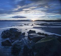Simple Coastal Scene  - Scottish Coast (Magdalen Green Photography) Tags: longexposure sunset rocks coolblue lovelysky scottishcoast 0792 calmnaturescene magdalengreenphotography simplecoastalscene