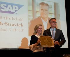 Accepting the Ambassador's Award for SAP