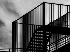Escalera (Jose Antonio. 62) Tags: blackandwhite bw espaa blancoynegro beautiful architecture stairs photography spain arquitectura gijn asturias escaleras