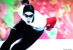 Fast and Fluid (Annette LeDuff) Tags: canada russia skater olympics sochi favorited winterolympics digitallyaltered speedskater dennymorrison photoannetteleduff annetteleduff leduffcameraart 02232014 infinitexposure