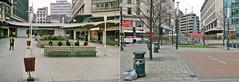 Old Square Birmingham 1973 # 2014 (geoff7918) Tags: birmingham shops tonyhancock gaumont lewiss oldsquare brucewilliams pedestrianprecinct litterbins prioryqueesway keithbudd