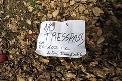 NO TRESSPASS (STILSAYN) Tags: california graffiti oakland bay east area 2014