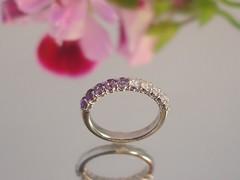アメシスト&ダイヤのハーフエタニティリング Amethyst and Diamond engagement rings (jewelrycraft.kokura) Tags: diamond amethyst 指輪 ダイヤモンド 婚約指輪 エンゲージリング ダイヤ アメシスト エタニティ ハーフエタニティリング