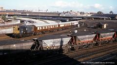 07/10/1981 - York. (53A Models) Tags: york train eagle diesel railway pullman freight britishrail shunter emeral class08 08249