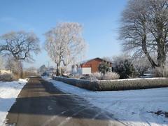 but cold outside (Landanna) Tags: blue sky snow nature denmark blauw sneeuw natur freezing natuur himmel lucht dnemark danmark als hemel denemarken bl snderjylland zuidjutland itiscoldoutsidesne