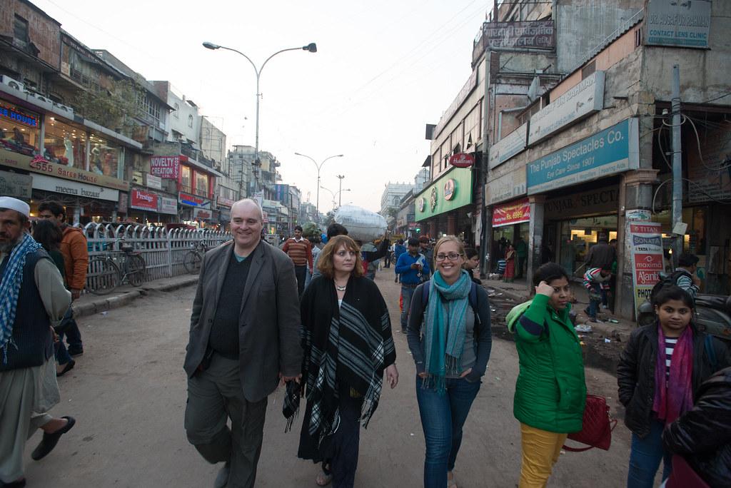 Mason family at Chandni Chowk