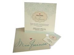 Invitacin 15 aos Valeria (Tarjetas Encantos) Tags: tarjeta 15 aos romantica telado crema invitacion
