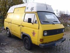 VW Transporter T3 Hochdach (TIMRAAB227) Tags: vw transporter volkswagen kastenwagen van hochdach bundespost post deutschebundespost germanfederalpostoffice t3 car auto coche bonn