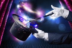 Amsterdam Magic Workshop (fun.amsterdam) Tags: background black cap circus concept curtain curtains entertainment fantasy hand hat illusion illusionist imagination magic magical magician man miracle mystery performance show sorcery stage star theater top trick wand white wizard