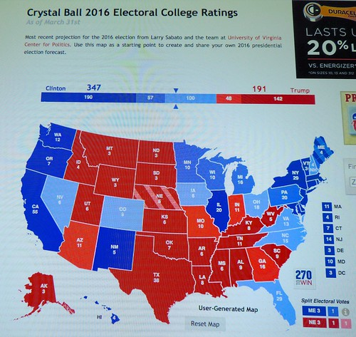 Electoral College Ratings for Election 2016