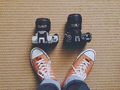 Sibling! (Joel Vergara Photography) Tags: japan nikon df made dslr madeinjapan nikonians retrocamera smalldslr iphone6 nikon3514g nikon5814g nikondfsilver nikondfblack