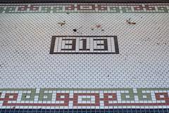 313 (dangr.dave) Tags: nocona tx texas downtown historic architecture montaguecounty 313 tile floortile