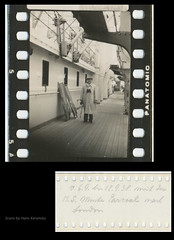 35mm Contact Print Roll Trip to England (03) (Hans Kerensky) Tags: trip england london film 35mm paper print found with kodak board 1938 holes september photographs german ms roll to contact monte sprocket on pascoal panatomic