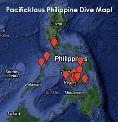 Pacificklaus Philppine Dive Map! (PacificKlaus) Tags: underwater map philippines scuba diving apo bohol anilao coron sabang malapascua palawan dauin moalboal divinglocations