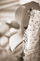 Time for summer ! (Elisa Pasche) Tags: summer monochrome hat sepia scarf time bokeh trioplan