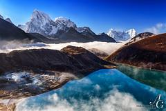 Himalayan Dream (TranceVelebit) Tags: above park morning nepal mountains cold clouds early village snowy lakes national np peaks himalaya himalayas thamserku glacial gokyo sagarmatha solukhumbu cholatse taboche kangtega