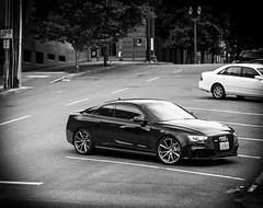 Audi RS5 (pillarsoflight) Tags: white black cars beauty car oregon 35mm portland prime grey aperture nikon parking fast downhill pay adobe toyota pdx 18 noise audi pnw vignette coupe avalon lanes lightroom rs5 d3300