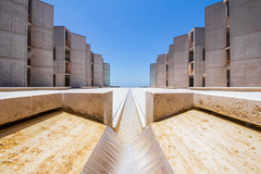 Salk Institute (imbaoroh) Tags: california blue sky building water architecture photography la san skies diego institute salk jolla