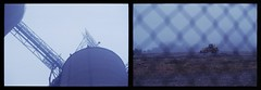 fog (MitchBoudreau) Tags: morning blue two film weather fog 35mm vintage fence outside photo construction farm border dirt 35mmfilm photoborder