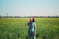 46560033 (Lkimngnnnnnnn) Tags: field rural deutschland human portrait yellow girls filmisnotdead filmphotography istillshootfilm outdoor