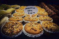 I do love a maffin kek (Melissa Maples) Tags: cameraphone food apple caf sign cake turkey dessert funny asia text trkiye antalya bakery muffin iphone gne trke  iphone6