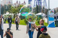 DSC_0340 (sergeysemendyaev) Tags: show children fun happy spring russia adler bubbles iridescent olympicpark sochi 2016   bigbubbles         sochiautodrom soapbubblesshow