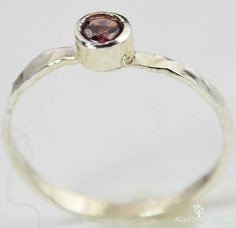 Small Alexandrite RI (alaridesign) Tags: june by silver hammered small ring mothers rings birthstone alexandrite stackable alaridesign