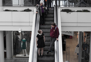 Relaxing On The Escalator: Howard Centre Welwyn Garden City
