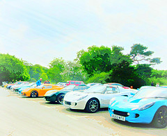 the Bright colours of  Lotus .. * (John(cardwellpix)) Tags: uk cars corner lotus sunday may surrey guildford 15th newlands albury 2016 merrow