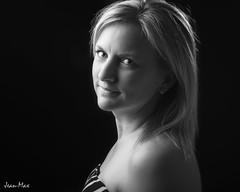 Karine (JM Boisvert) Tags: bw woman beauty key low blonde