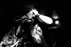 I Can't Hear You! (Jules (Instagram = @photo_vamp)) Tags: blackwhite singer vox guitarplayer seangriffin finalshow tensionhead saginawmichigan supportlocalmusic supportlivemusic hamiltonstreetpub chuckrossio