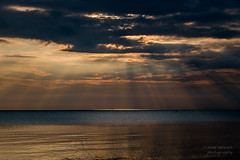 Sunrise in Meaford (paulstewart991) Tags: morning water clouds sunrise outdoors georgianbay canadian sunrays meaford canon70d