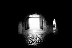 magic light... (eggii) Tags: street bridge light bw monochrome port river dark bavaria main viaduct wrzburg