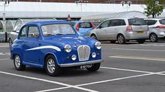 In Space (mitchell_dawn) Tags: blue austin classiccar fifties space 50s carpark parkingspace a30 a35 minilites minilitewheels 610yuj