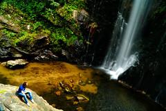 My Moment... (JL) Tags: naturaleza verde green nature water rio river landscape person landscapes waterfall agua peace silence catarata fervenza