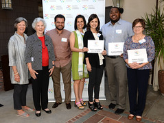 2016 Local Heroes - Board Members Priscilla Gamb & Fran Scoble with Education Capital Grant Recipients