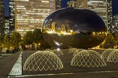 invaders (Robbyru1) Tags: longexposure travel chicago cloudgate lightpaint