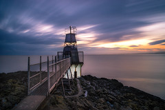 Battery Point (snazbaz) Tags: sunset lighthouse point coast long exposure portishead battery