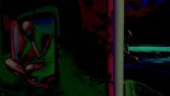 Multiple truth (Bamboo Barnes - Artist.Com) Tags: light shadow red black green art monochrome painting photo digitalart vivid surreal secondlife virtualart misterohifeng bamboobarnes