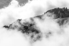 Living on a cloud - Champry (Switzerland) (luke.switzerland) Tags: champery switzerland romandie clouds mountains black white landscape nature nikon d600
