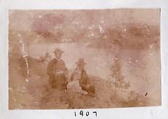 At the Reservoir 1907 (Bury Gardener) Tags: uk blackandwhite bw wales vintage oldies 1900s