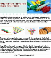Wholesale Cable Ties Suppliers- Nagpal Thread Factory (ritikascanf) Tags: ties cable suppliers