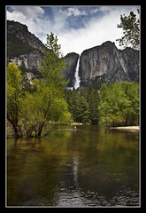Big Waterfall (K-Burn) Tags: california mountains reflection woodland river waterfall yosemitevalley mercedriver upperyosemitefalls mariposacounty